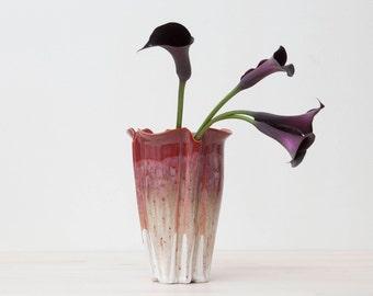 Handmade Fluted Vase