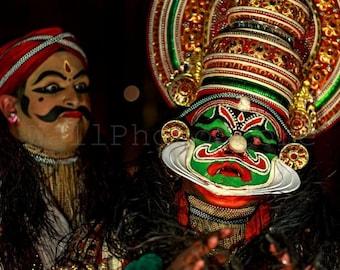 Kathakali Print Art, Kathakali Wall Art, Kathakali Dancer Portrait, Kathakali Mask, India Photography, Fine Art Photography, India Print Art