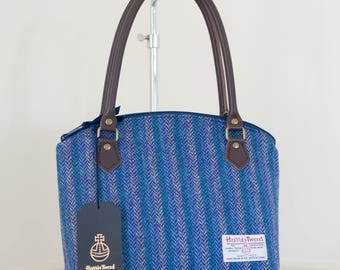 Handbag / Ladies Handbag / Blue Harris Tweed Handbag / Tweed Purse