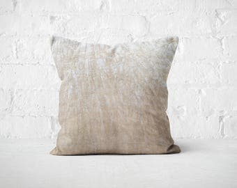 Cream Velvet Throw Pillow | Housewarming Gift | Plush Silk Throw Pillow | Beige Velvet Cushion | Decorative Pillow