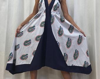 U of F Gators Dress U of F Gators Clothing University of Florida Dress Game Day Dress  Eco Dress Small to Medium