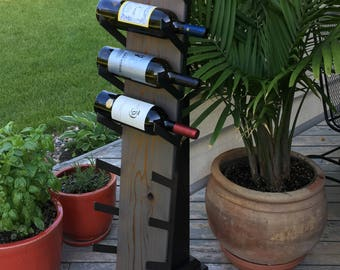 Wine rack-Large; Gift; Contemporary decor; Wine holder; Wall decor; Home decor; Reclaimed cedar;  Wall wine rack;  Father's Day gift