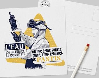 Pastis postcard