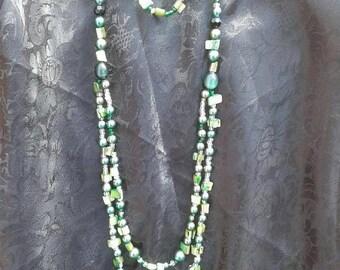 Green Odyssey Opera w/bracelet