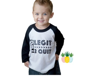 2nd Birthday Shirt - Second Birthday Shirt - Two Legit 2 Quit Shirt - 2 Legit - Boys Birthday - Two Year Old Shirt - Girls Birthday Shirt