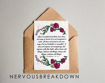 Christian Corinthians - Blank Card - Christian Greeting Card