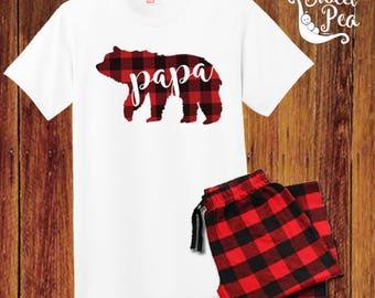 Papa Bear Pajamas Etsy