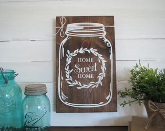Mason Farmhouse Decor - Farm House Sign - Southern Sign - Mason Jar Sign - Farm House Kitchen Sign - Mason Jar Wall Decor