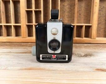 Kodak Brownie Hawkeye Flash Camera Vintage Eastman Kodak 620 Film Camera with Hand Strap