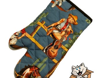 Cowgirl Pinup Oven Mitt