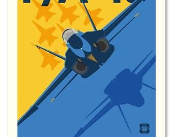 Blue Angel F/A 18 Hornet