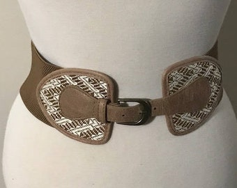 Vintage women's taupe Belt fit X small, Small and Medium