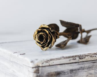 Handmade Metal Rose  The Perfect Gift, Every Time. Steel Rose (Gold)