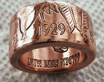 Copper Coin Ring
