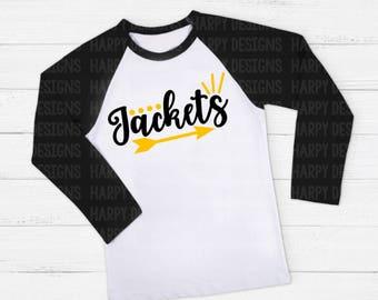 Jackets SVG, Football SVG, Football T-shirt Design, Cricut Cut Files, Silhouette Cut Files