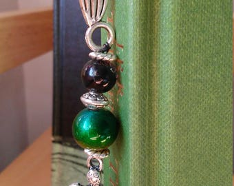 Silver Turtle Bookmark w/ Glass Beads