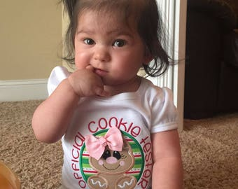 Christmas - Cookie Tester - Gingerbread  Bodysuit, Shirt or Bib