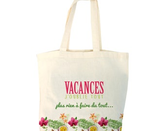 Tote bag personalize exotic pattern