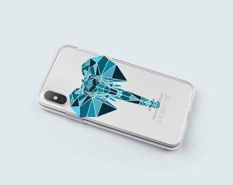 Elephant iPhone 8 Plus Case, iPhone 7 Plus Case, iPhone X Case Clear, iPhone 7 Case Clear, iPhone 6s Case Clear, iPhone 6s Plus Case-KT066