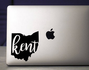 Kent State / Kent State Decal / Kent / Ohio Decal / Macbook Decal / Laptop Decal / Golden Flashes / Kent Ohio / Vinyl Decal / Sticker / Ohio