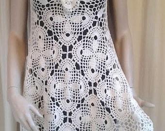 Lizzy Boho Hippie Crochet dress