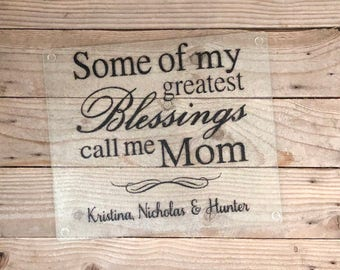 Glass Cutting Board, New Grandma, Mom Gifts, Gifts, Mother's Day, Grandmother, Nana, Mimi, Grandma, Grandmother, Christmas, Gifts for her