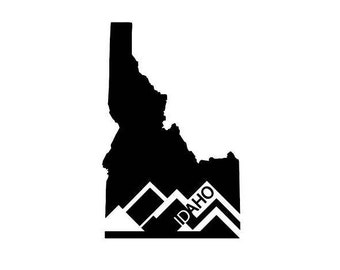 Idaho mountain vinyl sticker