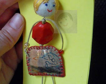 "Blondie ""Pirralha"" brooch"