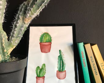 Cacti Trio Original Artwork