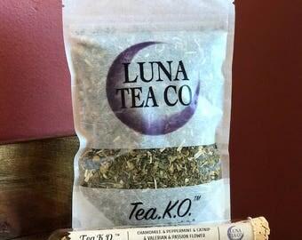 Tea.K.O. // Organic Herbal Tea Blend // Loose Leaf Tea // Caffeine Free Tea // Sleepy Tea // Zip Pouch Tea or Test Tube Tea