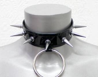 Black Hologram Studded Choker