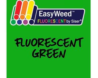 Siser EasyWeed Fluorescent Heat Transfer Vinyl - HTV - Fluorescent Green