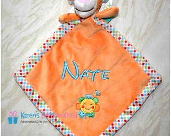 Personalised Tigger baby comforter, Tigger Baby Blankie