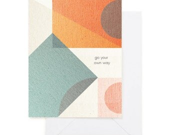 Go Your Own Way - Modern Greeting Card