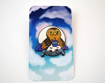 Night Owl Enamel Pin