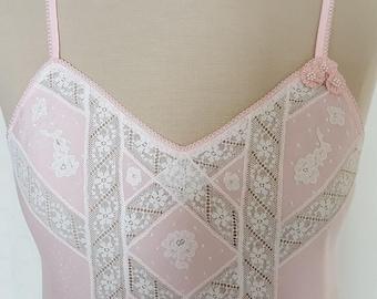 PAJAMA pants short carving interior-batista 40-Pajamas-clothing - t-shirt with tirantes-puntilla Alençon applied-pants corto-encaje CC01