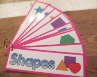 Vintage Flash Cards. Shapes. Journal Supply. Old Shapes Flash Cards. Scrapbook Ephemera. Junk Journal Paper. Vintage School. Embellishment.