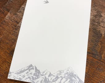 Mountain and Birds Notepad