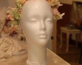 Bracelet, Bohemian boutonniere, bridal bouquet wreath