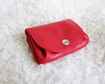 red leather wallet; Red wallet;  leather wallet