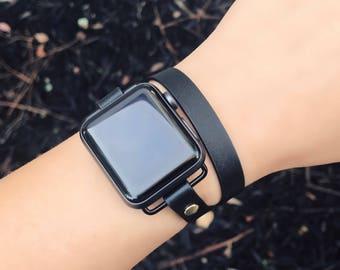 Apple Watch Band, 38mm Apple Watch, 42mm Apple Watch, Faux Leather Apple Watch Band, iWatch Band, Series 3 Apple Watch, FitBit Ionic