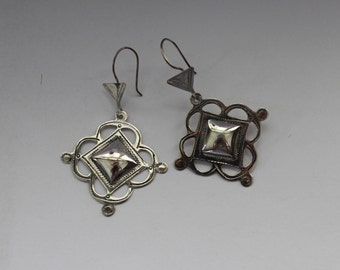 Silver Tuareg Star Earrings