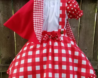 Little Red Riding Hood Costume, Storybook Outfit, Little Red Riding Hood Halloween Costume, Red Riding Costume, Red Riding Hood Birthday