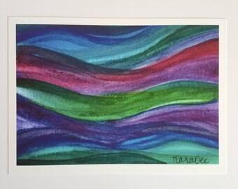 Watercolor Painting Art Print - Watercolor Flow Art Print - Flowing Art - Jewel Tones Artwork - Contemporary Art Prints - Modern Artwork