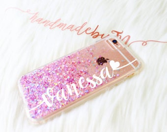 Lavender Glitter Phone case iPhone 7 case iPhone 7 Plus case iPhone 6 case iPhone 6 Plus case iPhone 8 case iPhone 8 Plus case iPhone x case