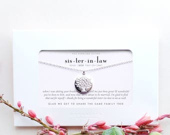 sister in law sisterinlaw wedding engagement thank you gift from bride