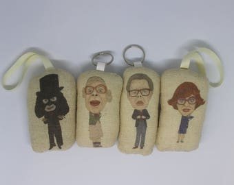 The League Of Gentlemen Inspired Keyring/Keychain, Scented Car Air Freshener, Plush Christmas Bauble Doll/Pauline/Tubbs/Edward/Papa Lazarou