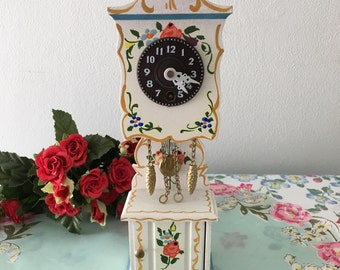 1960's German Small Wooden Wall Clock