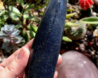 Beautiful RARE Lazulite Massage Wand - Madagascar | Third Eye Meditation | Lucid Dreaming | Psychic Gifts | Astral Travel | Indigo Ray T896K
