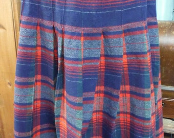 1950's Pendleton Plaid Wool Skirt